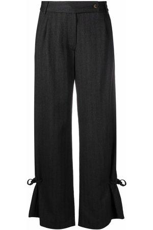 SOCIÉTÉ ANONYME Straight-leg ankle-tie trousers