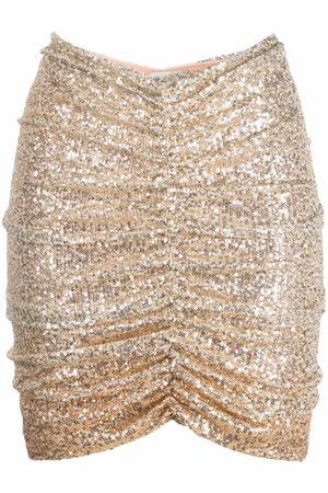 Pinko Sequined draped miniskirt