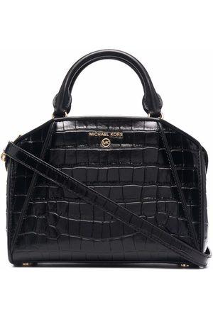 Michael Kors Women Tote Bags - Cleo crocodile-effect leather tote