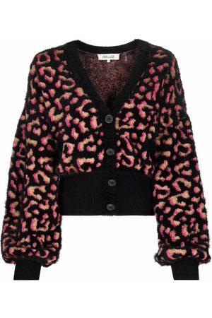 Diane von Furstenberg Leopard-print bell-sleeve cardigan
