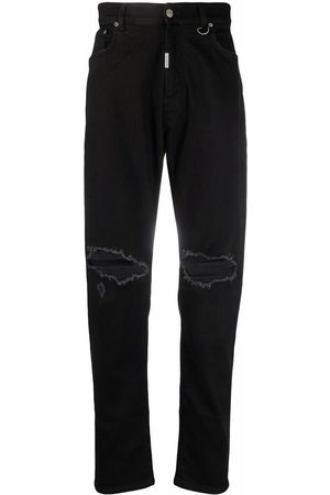 Represent Mid-rise straight-leg jeans