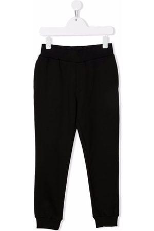 Roberto Cavalli Boys Straight Leg Pants - Logo-patch straight-leg trousers