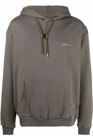 BUSCEMI Logo-embossed long-sleeve cotton hoodie