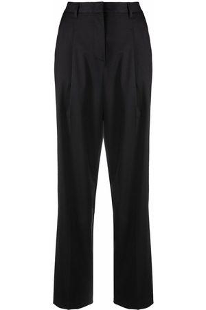 ..,MERCI Women Straight Leg Pants - Pleat-detail straight-trousers