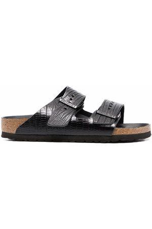 Birkenstock Women Sandals - Arizona BS' crocodile-effect slides
