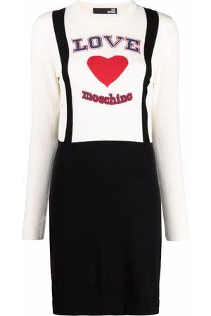 Love Moschino Love brace-strap knit jumper dress