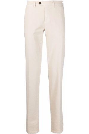 CANALI Men Chinos - Straight-leg cotton chinos - Neutrals