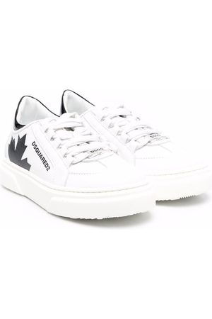 Dsquared2 Boys Sneakers - Leather low-top sneakers