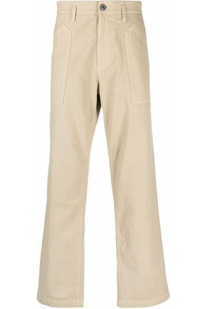 Stone Island Compass-patch straight-leg trousers - Neutrals