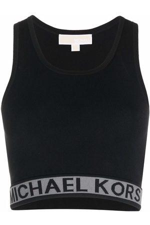 Michael Kors Logo-waist cropped top