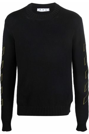 OFF-WHITE Intarsia-knit long-sleeve jumper
