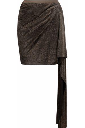 RICK OWENS LILIES Draped mini skirt