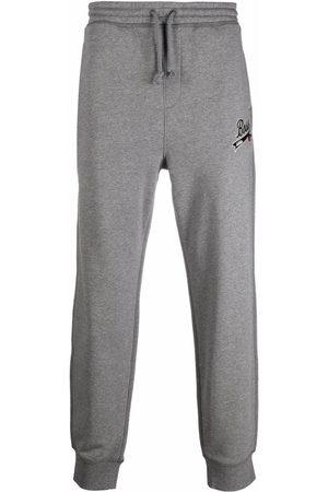 HUGO BOSS Men Sweatpants - Logo-patch drawstring track pants - Grey