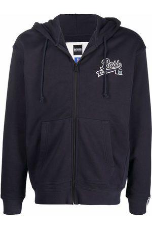 HUGO BOSS Men Hoodies - Logo-print zip-up hoodie