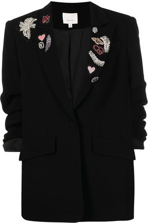 Cinq A Sept Women Blazers - Embroidered single-breasted blazer