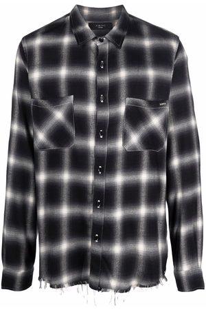 AMIRI Men Shirts - Core shadow plaid shirt