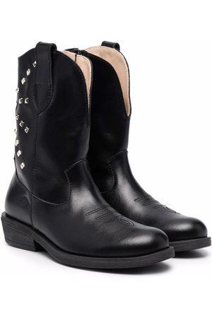 Florens Stud-embellished leather boots