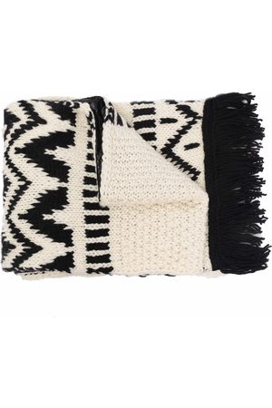 Moncler Patterned intarsia-knit scarf