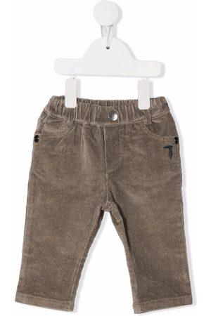 Trussardi Chinos - Corduroy straight-leg trousers - Grey