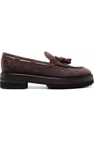 Fratelli Rossetti Tassel-detail suede loafers