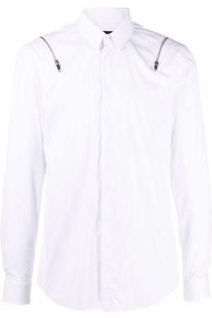 Les Hommes Zip-detail long-sleeved shirt