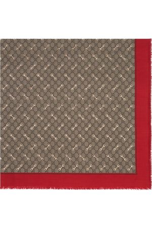 Gucci Horsebit-print GG scarf - Neutrals