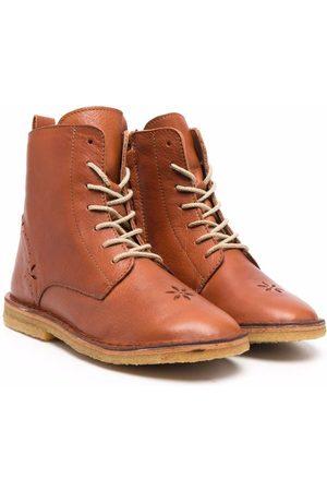 Emile et ida Lace-up flat boots