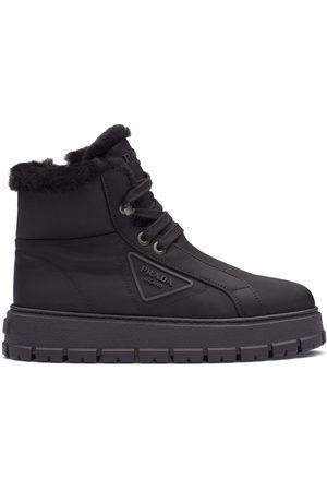 Prada Triangle-logo ankle boots