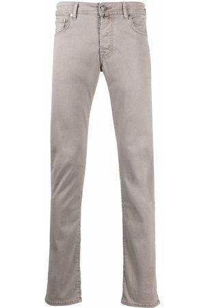 Jacob Cohen Handkerchief-detail slim-cut trousers - Grey