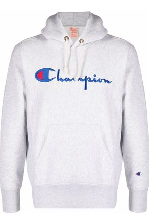 Champion Embroidered-logo hoodie - Grey