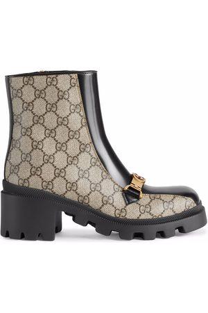 Gucci Horesbit Interlocking G ankle boots