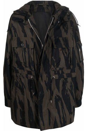 Kenzo All-over print parka coat