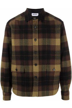 Kenzo Check-print long-sleeved shirt