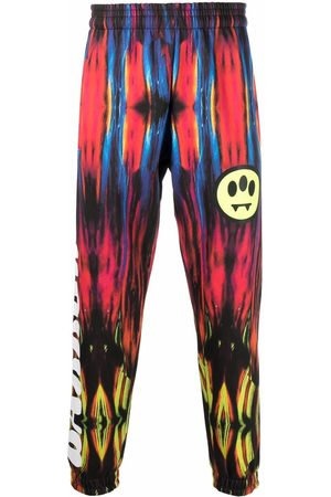 BARROW Abstract-print elasticated-waist trousers
