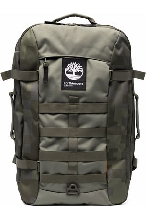 Timberland Logo-patch camouflage backpack