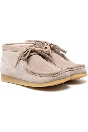 Clarks Boys Ankle Boots - Bow detailing ankle boots - Neutrals