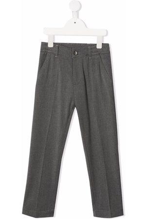 Paolo Pecora Pressed-crease straight-leg trousers - Grey