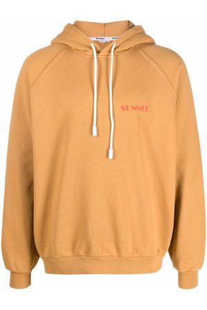 SUNNEI Logo-print cotton hoodie - Neutrals