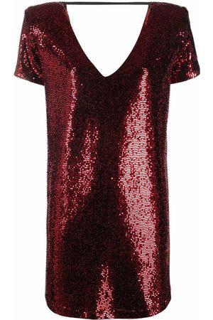 BLANCA Sequin-embellished shift dress