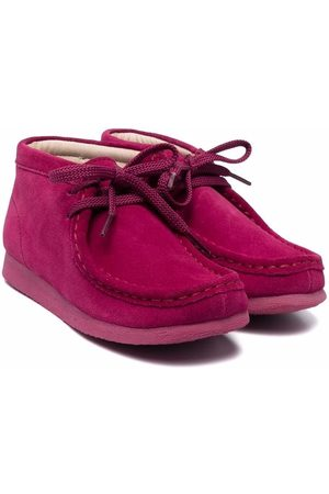 Clarks Girls Ankle Boots - Suede Wallabee boots