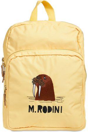 Mini Rodini Walrus Print Recycled Nylon Backpack