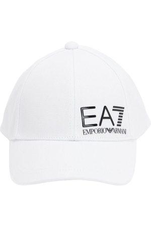 EA7 EMPORIO ARMANI Men Caps - Logo Cotton Canvas Cap