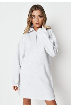 Missguided Marl Extreme Collar Sweater Dress