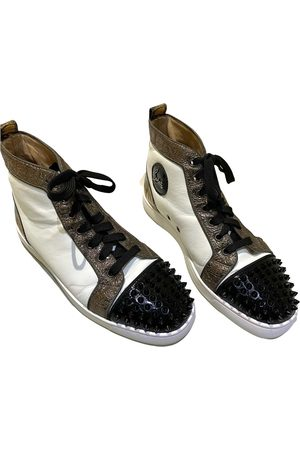 Christian Louboutin Louis junior spike leather high trainers