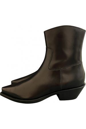 Dolce & Gabbana Leather western boots