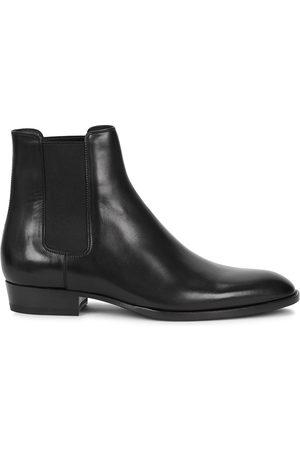 Saint Laurent Men Chelsea Boots - Wyatt 30 leather Chelsea boots