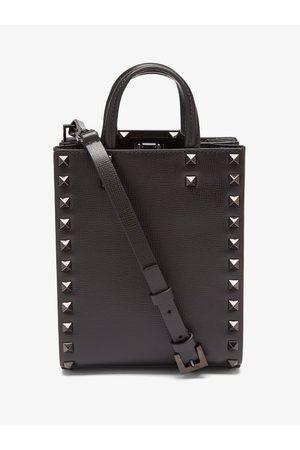 VALENTINO GARAVANI Men Bags - Rockstud Leather Tote Bag - Mens