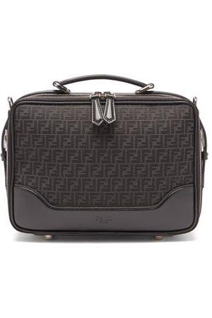 Fendi Men Bags - Ff-jacquard Leather-trim Canvas Cross-body Bag - Mens