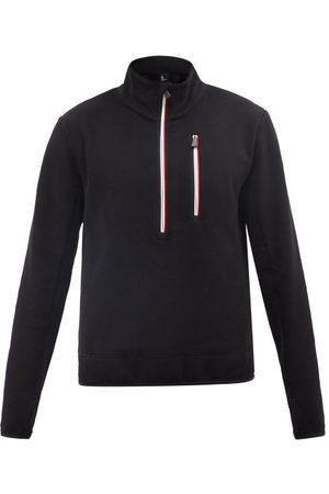 Moncler Men Sweatshirts - Zip-neck Jersey Sweatshirt - Mens - Black