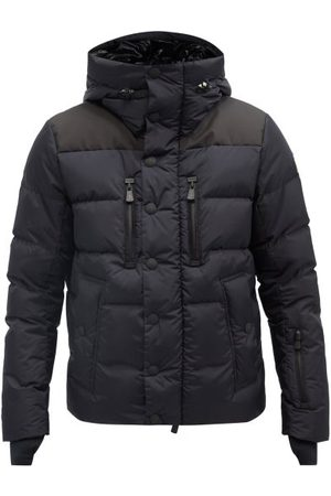 Moncler Rodenberg Hooded Quilted Down Coat - Mens - Navy